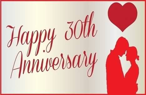 Romantic 30th Anniversary Wishes For Brother In Law Image
