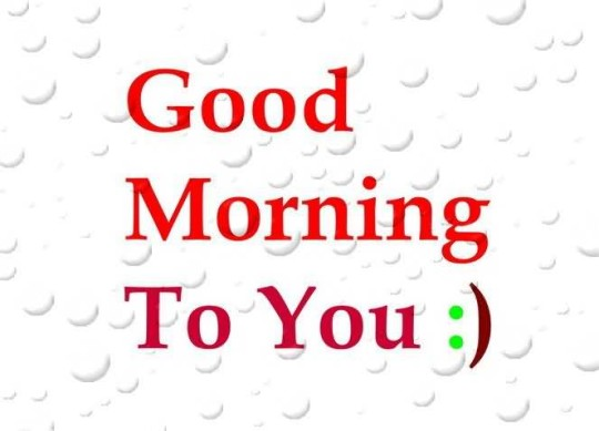 Special Good Morning Graphic