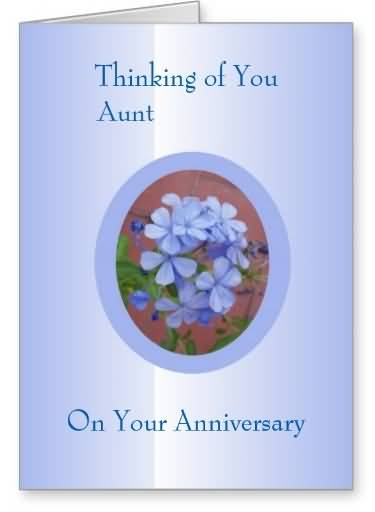Superb Anniversary Wishes For Aunt E-Card