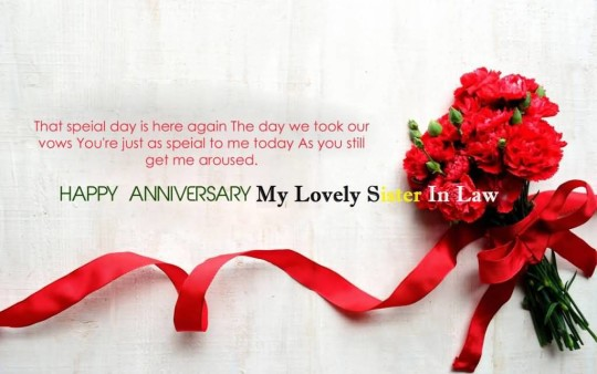 Sweet Anniversary Wishes For Sister In Law Greetings