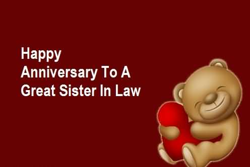 Sweet Anniversary Wishes For Sister In Law Image