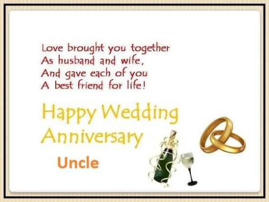 Sweet Anniversary Wishes For Uncle Wallpaper