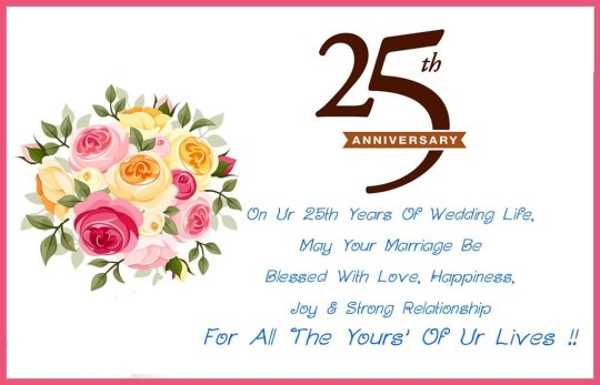 Sweet E-Card 25th Anniversary Wishes For Uncle