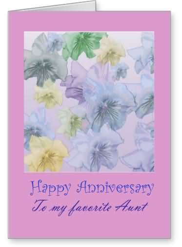 Sweet E-Card Anniversary Wishes For Aunt