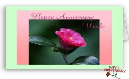 Sweet E-Card Anniversary Wishes For Dear Uncle