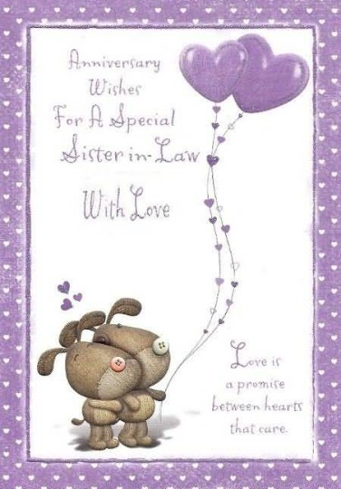 Sweet E-Card Anniversary Wishes For Sister In Law