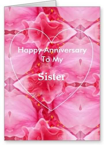 Sweet E-Card Anniversary Wishes For Sister