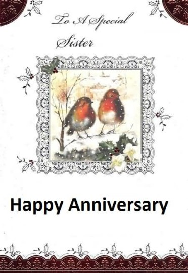 Sweet Greetings Anniversary Wishes For Dear Sister