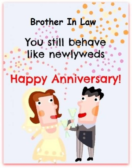 Sweet Image Anniversary Wishes For Brother In Law