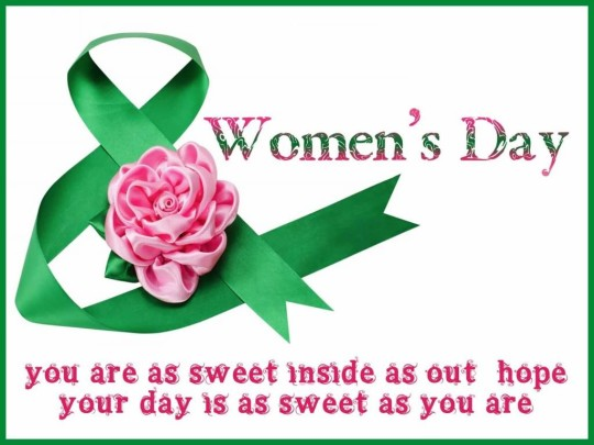 Sweet Message Happy Women's Day Image