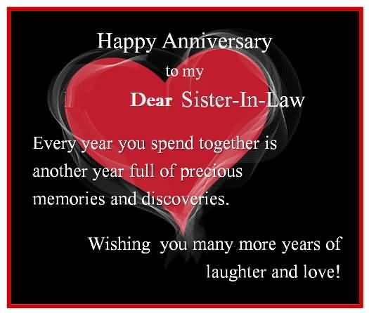 Terrific Anniversary Wishes For Sister In Law Wallpaper