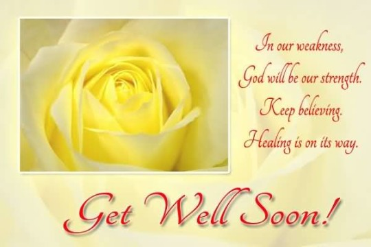 Terrific Message Get Well Soon Wallpaper