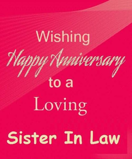 Traditional Anniversary Wishes For Sister In Law Graphic