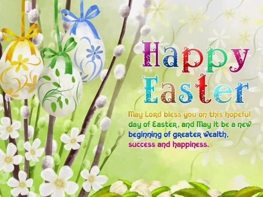 Traditional Message Happy Easter Wallpaper