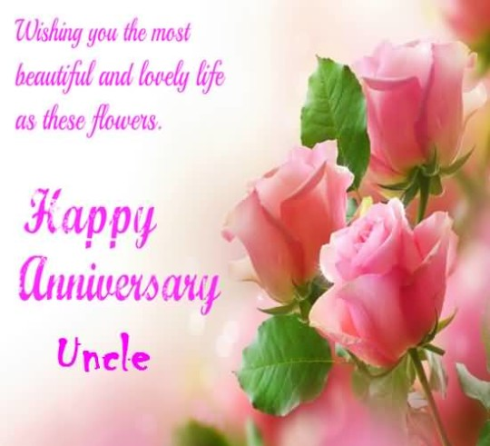 Unique E-Card Anniversary Wishes For Dear Uncle