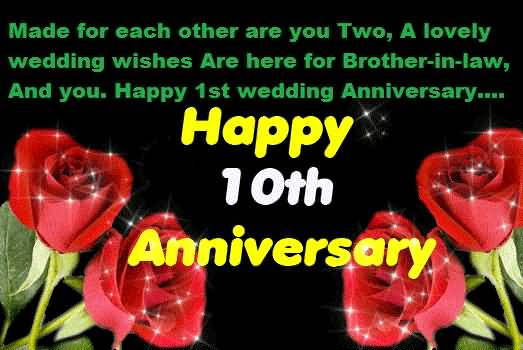 Unique Message 10th Anniversary Wishes For Brother In Law Wallpaper