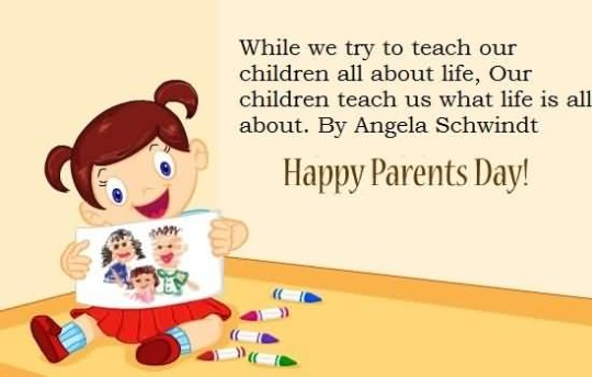 Wonderful Message Happy Parent's Day Wallpaper