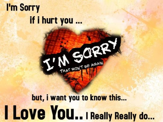 Amazing Sorry Quotes Wallpaper