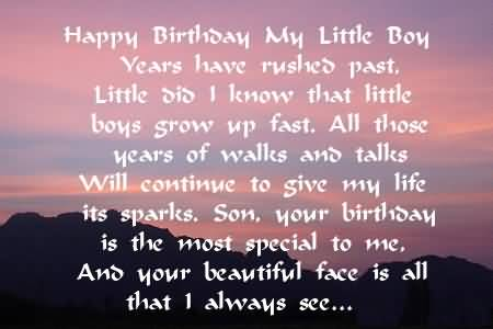 Awesome Poem Birthday Wishes For 1st Baby Boy Greetings
