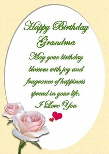 Beautiful Birthday Wishes For Grandmother Greetings
