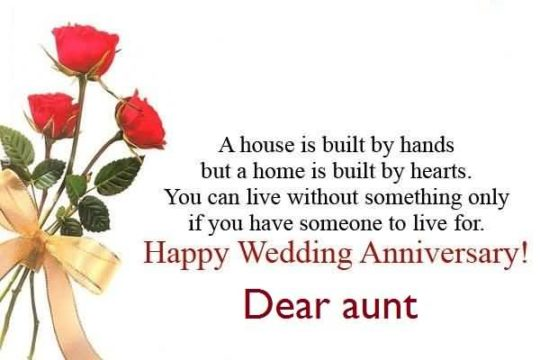 Beautiful Message Anniversary Wishes For Aunt