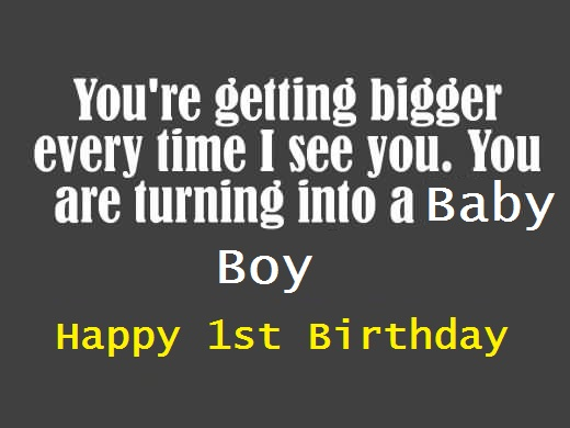 Best E-Card Birthday Wishes For 1st Baby Boy