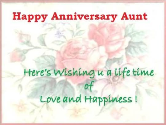 Best Message Anniversary Wishes For Aunt Image