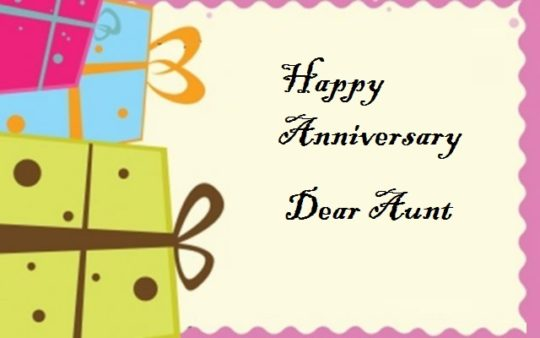 Best Message Anniversary Wishes For Aunt Scrap
