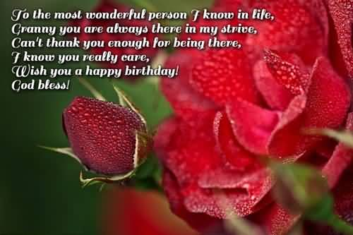 Best Message Birthday Wishes For Grandmother Wallpaper