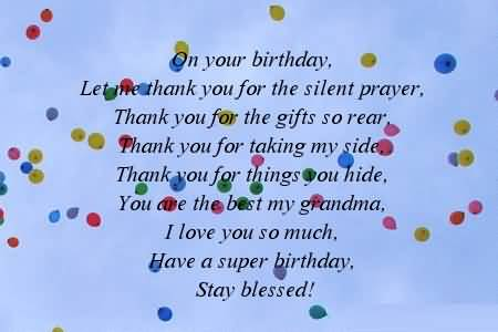 Best Poem Birthday Wishes For Grandmother Wallpaper