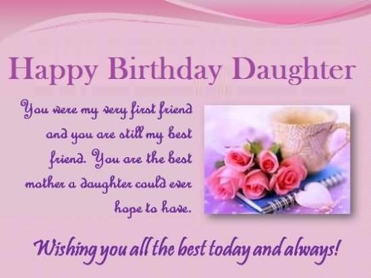 Brilliant Message Birthday Wishes For Daughter Wallpaper