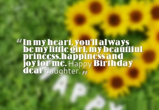 Brilliant Quote Birthday Wishes For Daughter Wallpaper