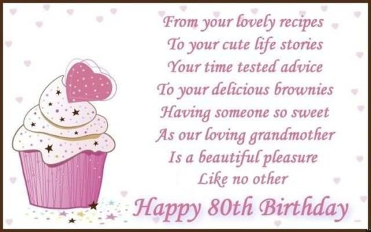 Cool 80th Birthday Wishes For Grandmother E Card