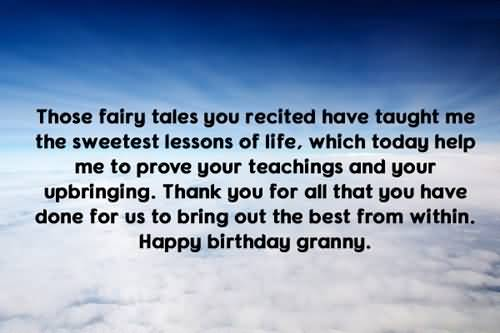 Cool Birthday Wishes For Grandmother Wallpaper