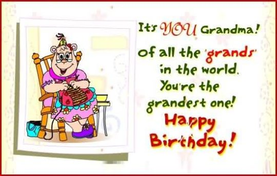 Cute Birthday Wishes For Grandmother Picture