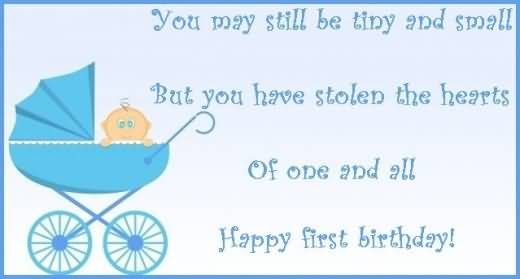 Cute E-Card Birthday Wishes For 1st Baby Boy