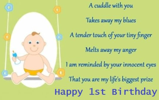 Cute Greetings Birthday Wishes For 1st Baby Boy