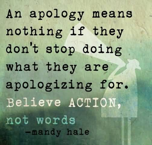 Great Apology Quotes By Mandy Hale