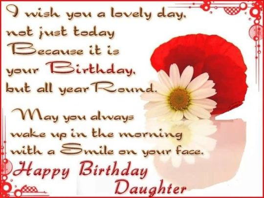 Great Birthday Wishes For Daughter Wallpaper