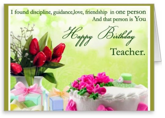 Great Birthday Wishes For Teacher Greetings