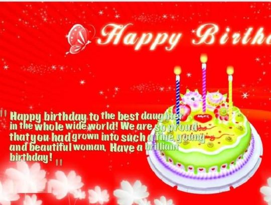 Great Message Birthday Wishes For Daughter Wallpaper