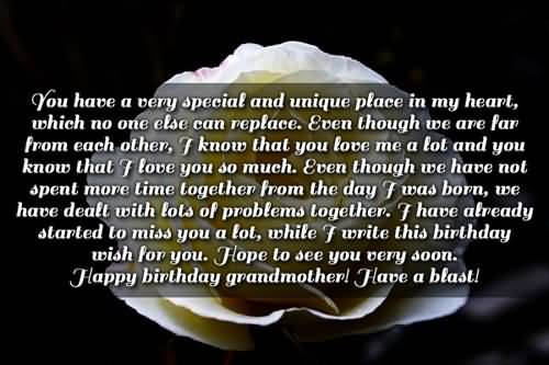 Great Message Birthday Wishes For Grandmother Wallpaper