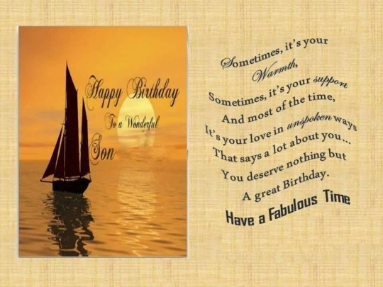 Great Message Birthday Wishes For Wonderul Son Greetings