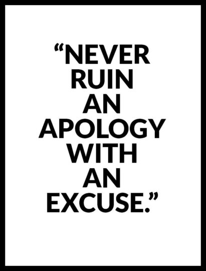 Latest Apology Quotes With An Excuse