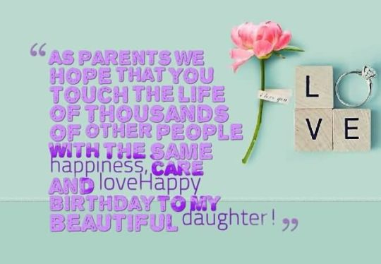 Latest Birthday Wishes For Daughter Graphic