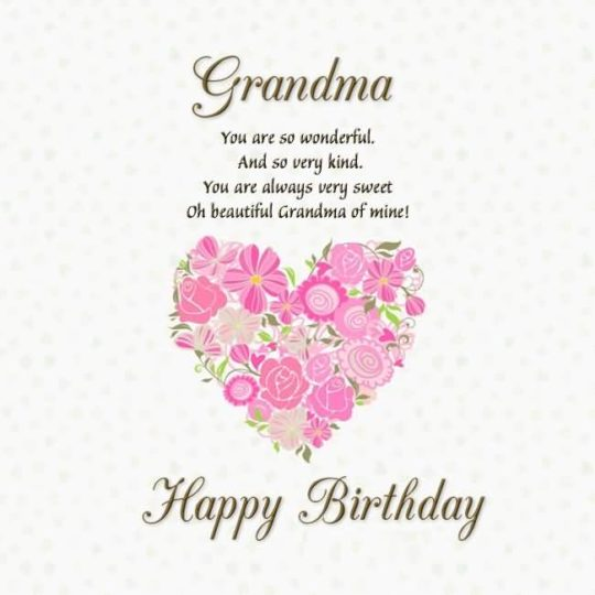 Latest Birthday Wishes For Grandmother Greetings