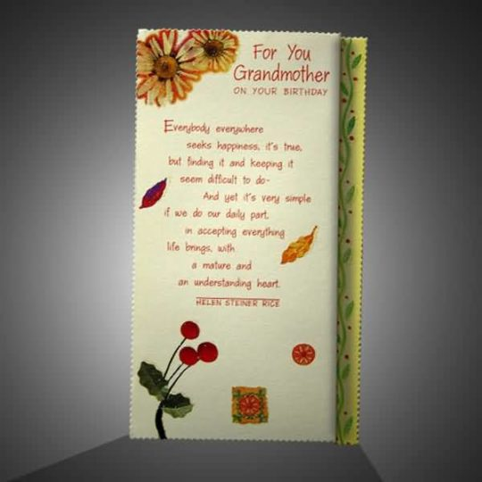 Lovely Birthday Wishes For Grandmother E-Card