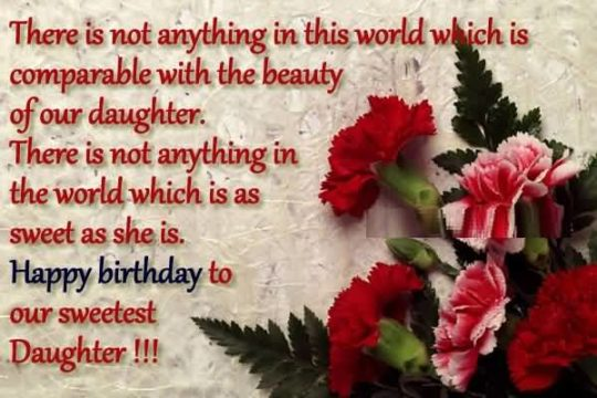 Lovely Birthday Wishes For Sweetest Daughter Wallpaper