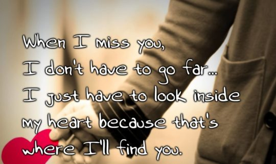Lovely Miss You Quote I'll Find You