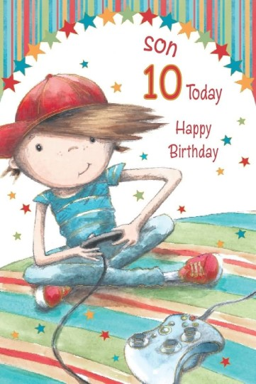 Nice 10th Birthday Wishes For Son E-Card Nice Wishes